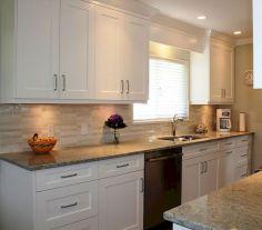 White Shaker Kitchen Cabinet Design