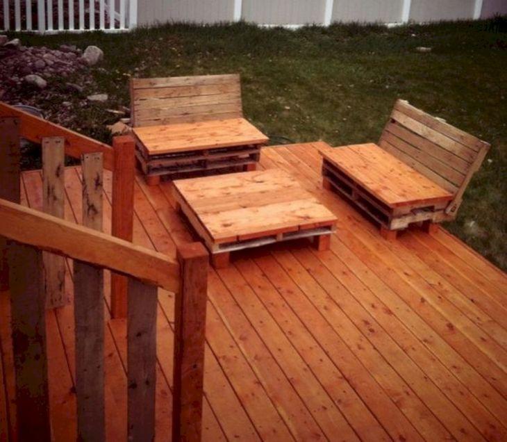 Wood Pallet Deck Furniture
