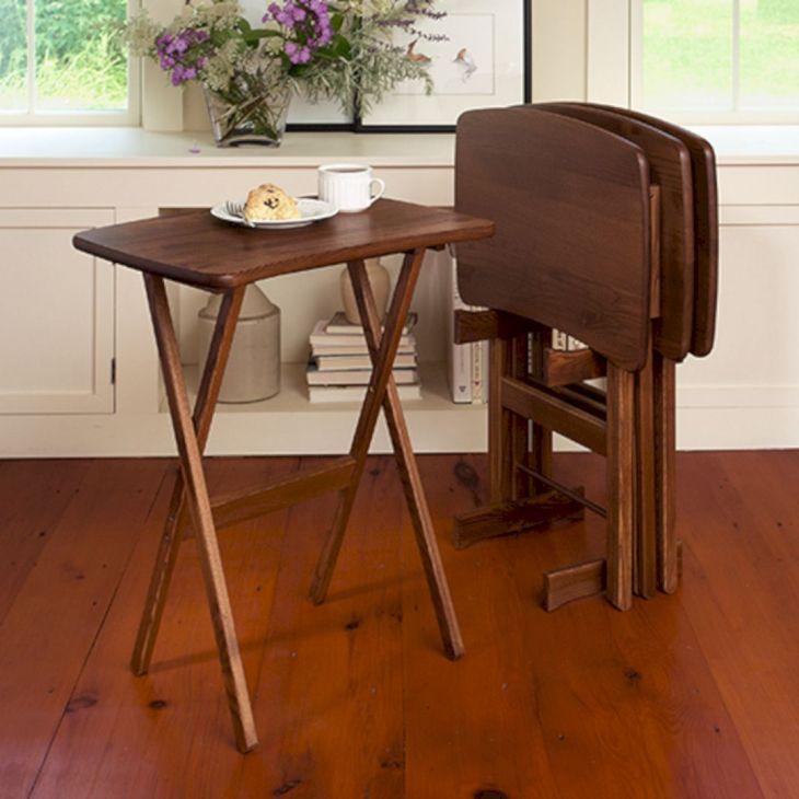 Wood TV Tray Table Ideas