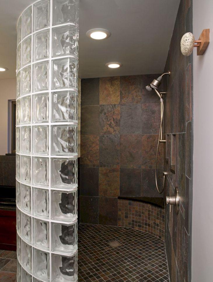 Bathroom Glass Block Shower Ideas 19