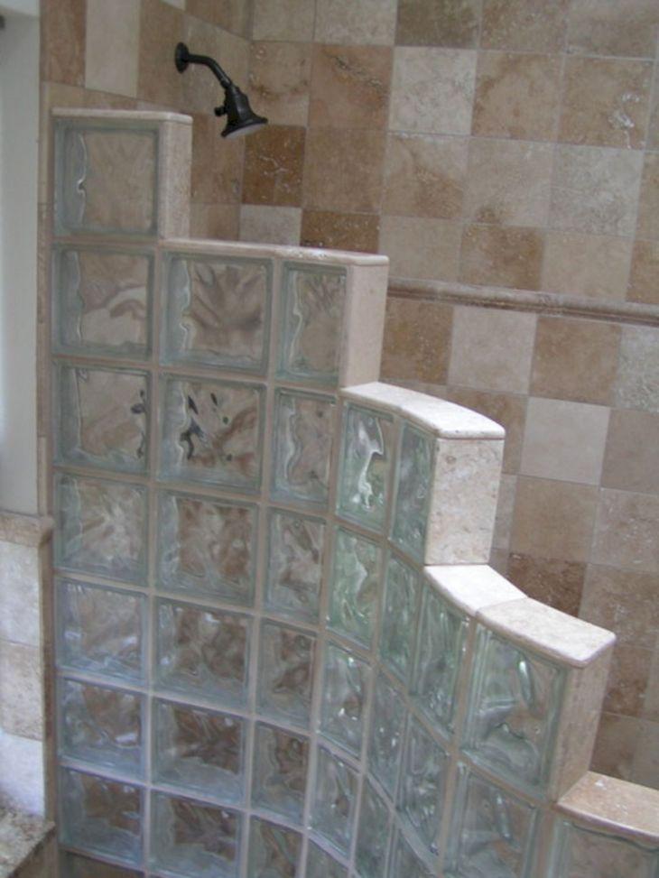 Bathroom Glass Block Shower Ideas 2