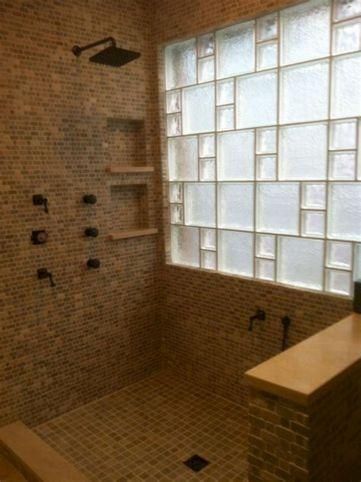 Bathroom Glass Block Shower Ideas 3