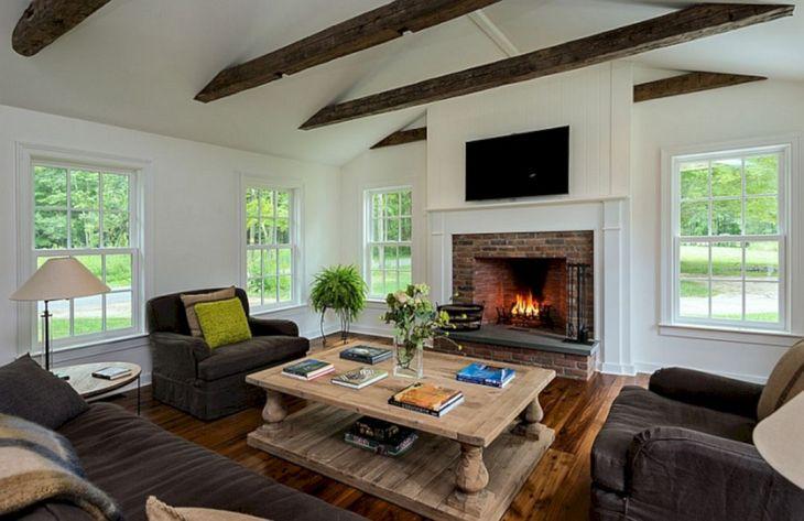 Farmhouse Living Room Fireplace 11