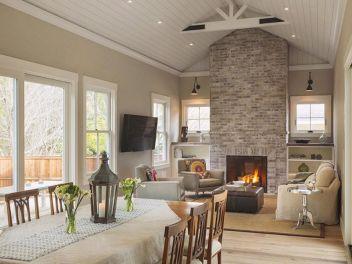 Farmhouse Living Room Fireplace 2