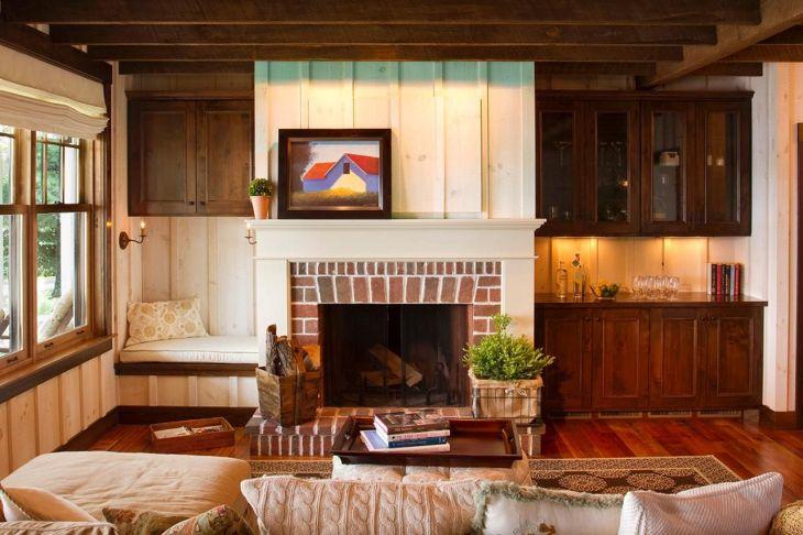 Farmhouse Living Room Fireplace 6