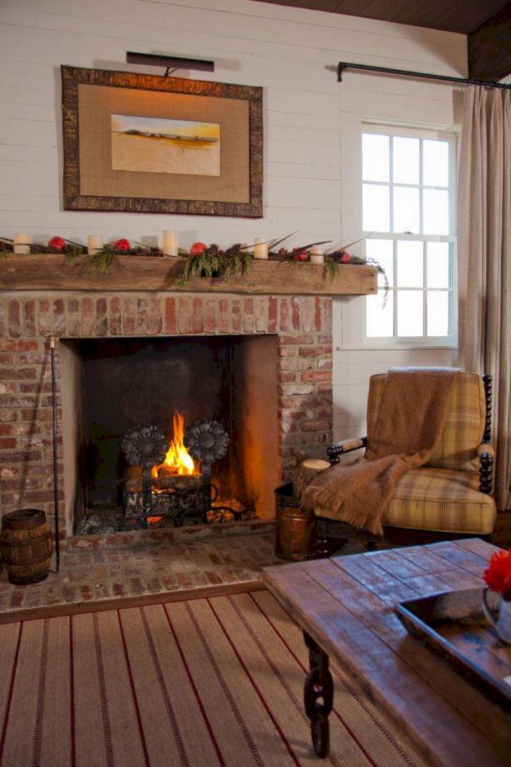 Farmhouse Living Room Fireplace 7