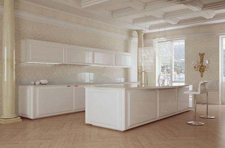 Classic White Kitchen Cabinets 18