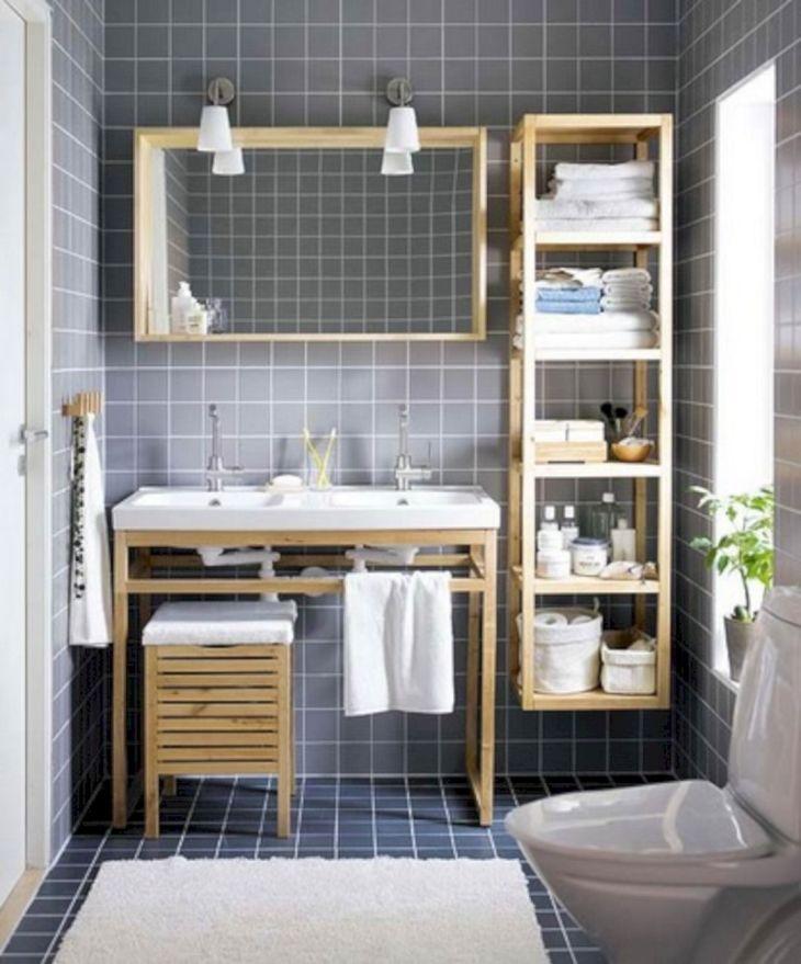Creative Shelving Ideas for Small Bathrooms 17