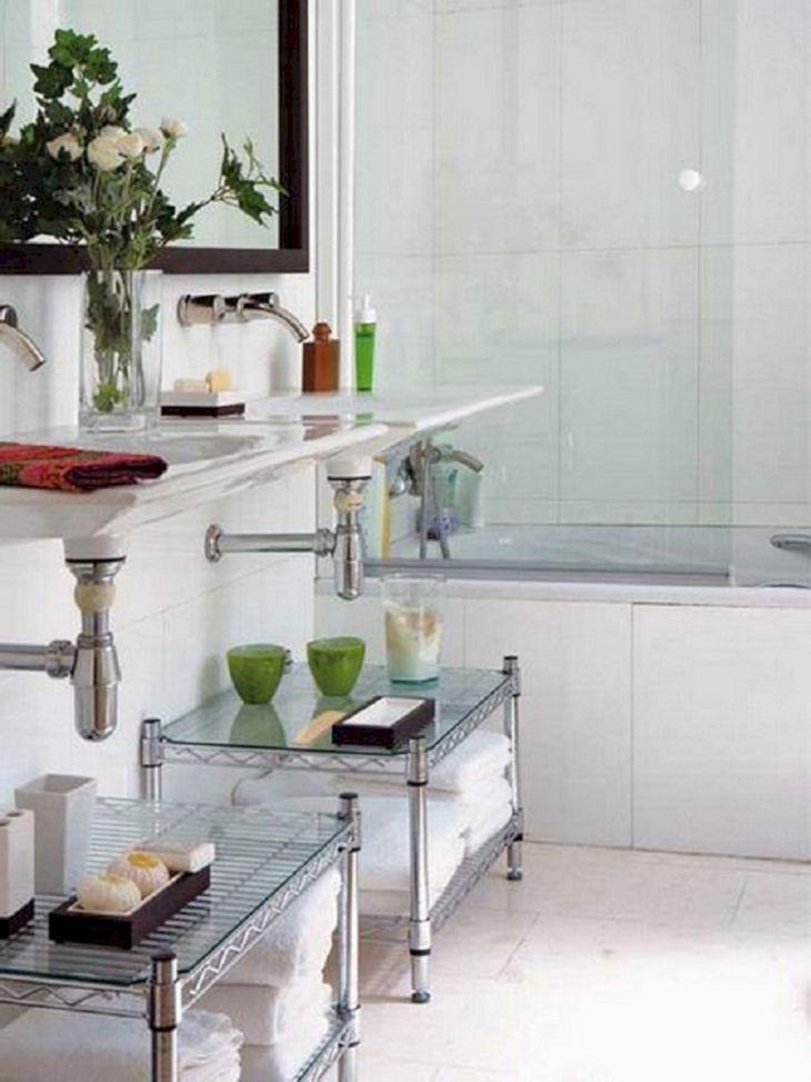 Creative Shelving Ideas for Small Bathrooms 20