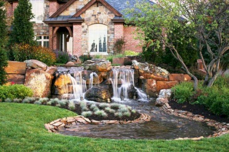 Simple Backyard Waterfall Design 10