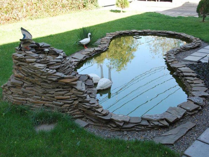 Simple Backyard Waterfall Design 13