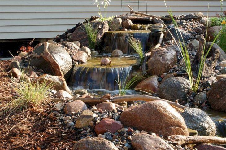 Simple Backyard Waterfall Design 7