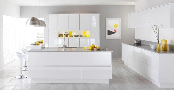 White Modern Kitchen Design 17