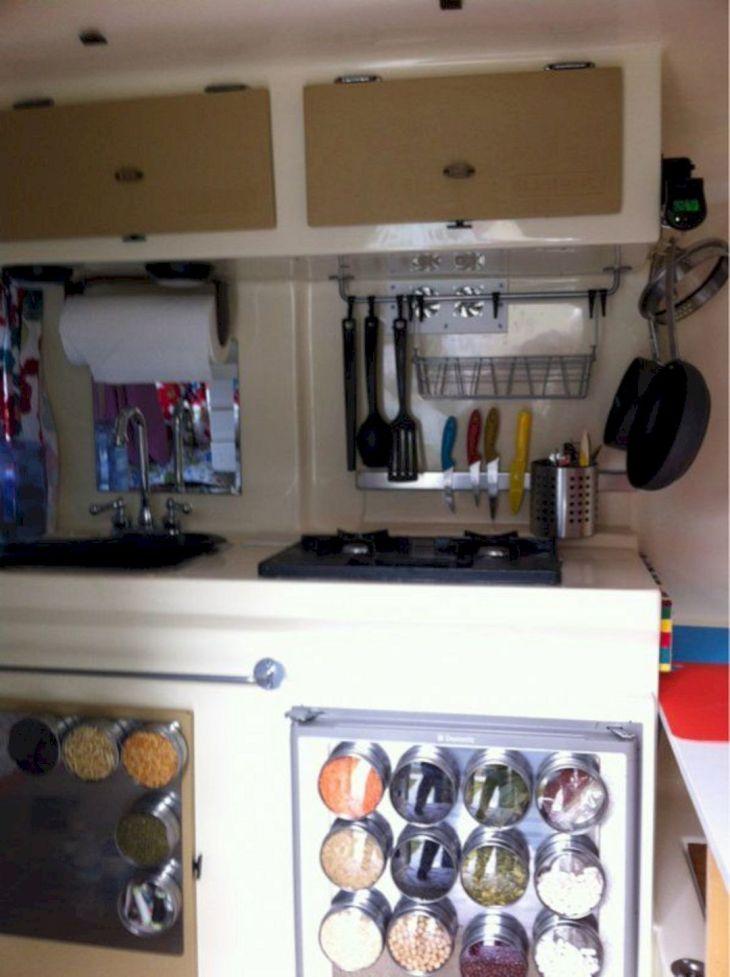Camper Kitchen Organization Ideas 8