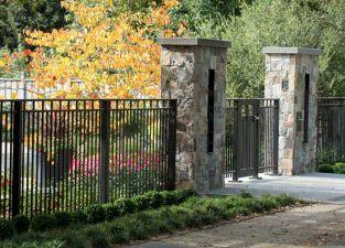 Black Garden Fences Design 15