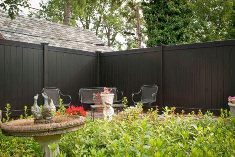 Black Garden Fences Design 3