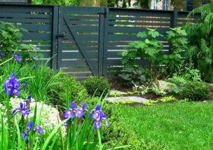 Black Garden Fences Design 8