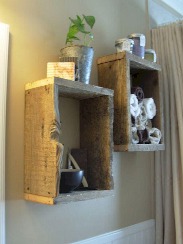 DIY Barnwood Bathroom Decoration 13