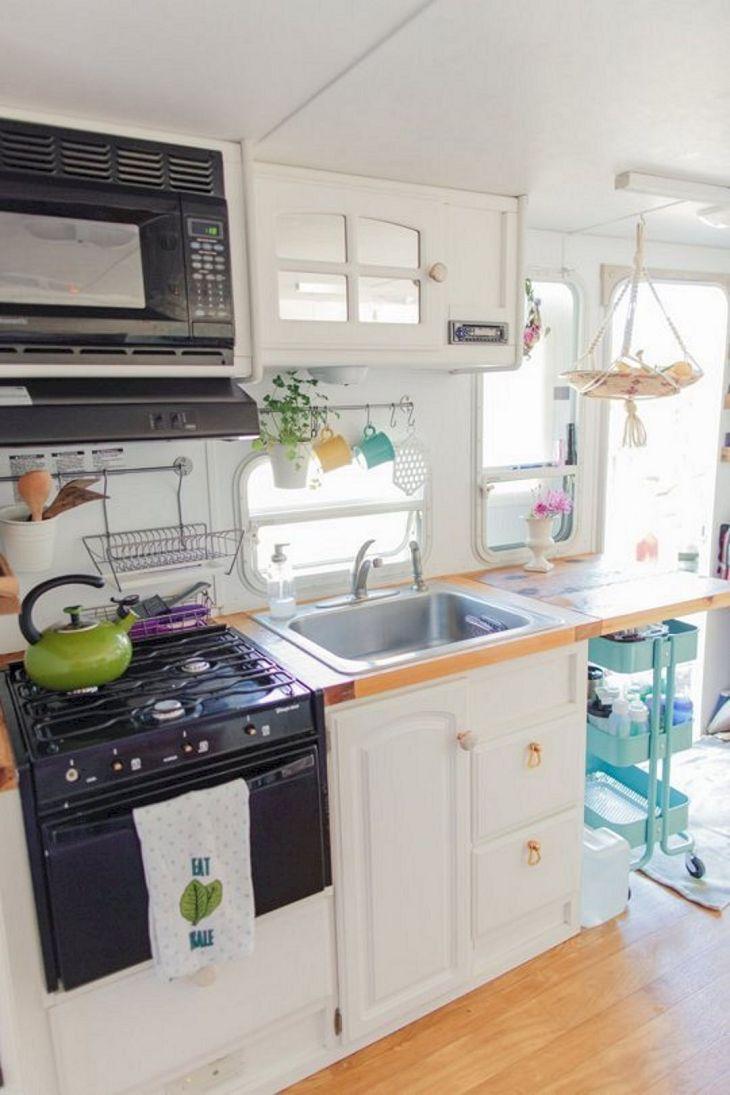 Best RV Kitchen Renovation Camper Ideas