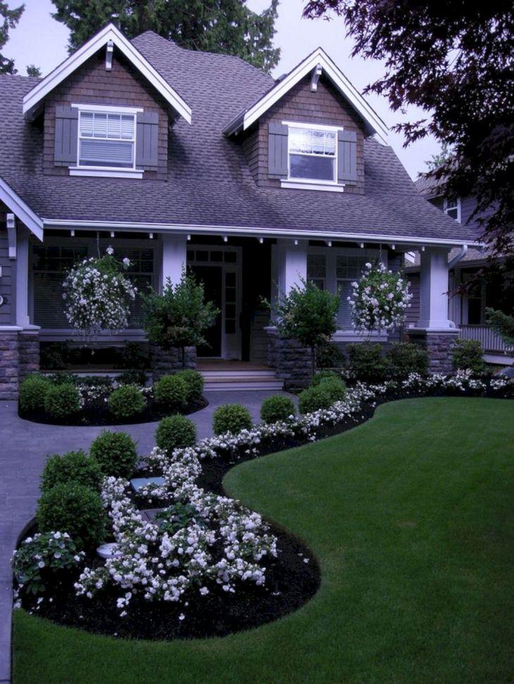 Front Yard Flower Garden Design 17