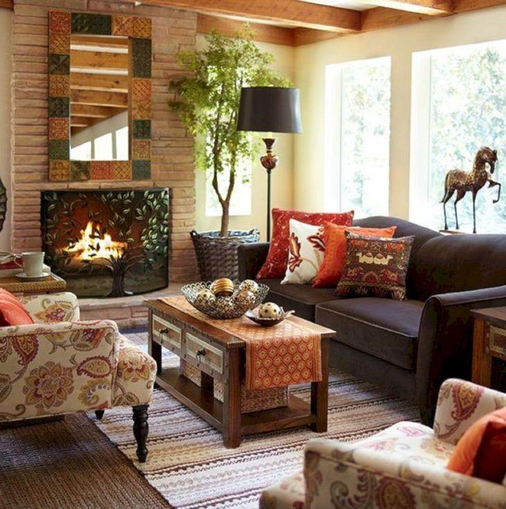 Living Room Fall Decor Ideas 23
