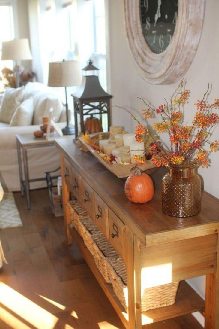 Living Room Fall Decor Ideas 30