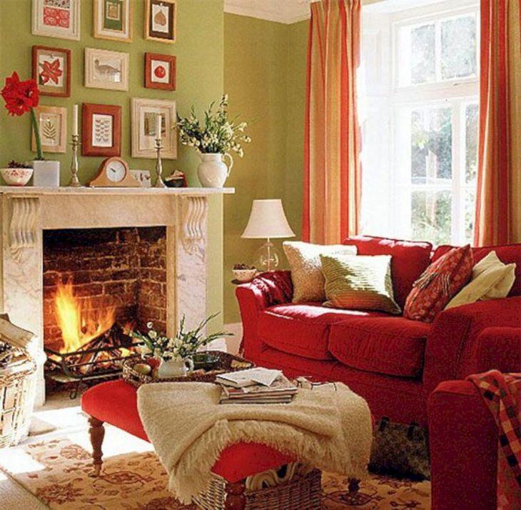 Living Room Fall Decor Ideas 32