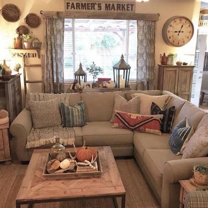 Living Room Farmhouse Decoration Ideas 110