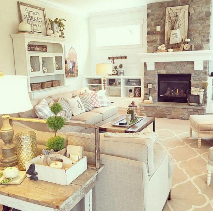 Living Room Farmhouse Decoration Ideas 112