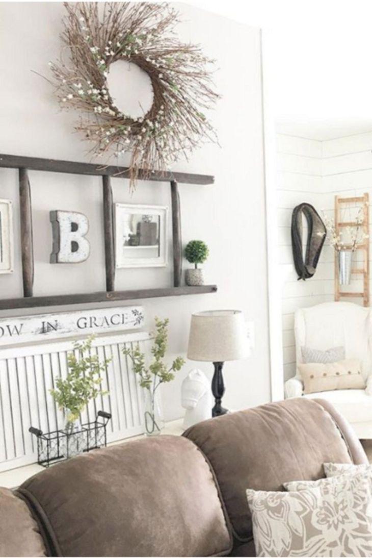 Living Room Farmhouse Decoration Ideas 115