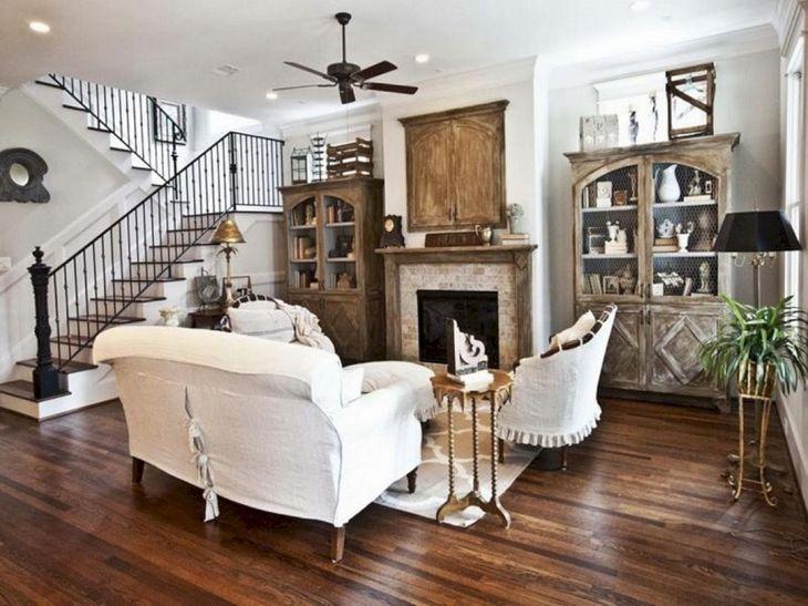 Living Room Farmhouse Decoration Ideas 118