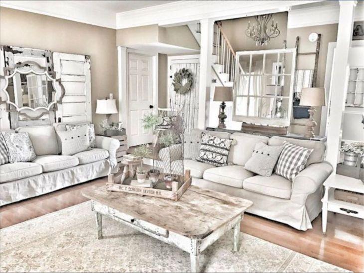Living Room Farmhouse Decoration Ideas 126