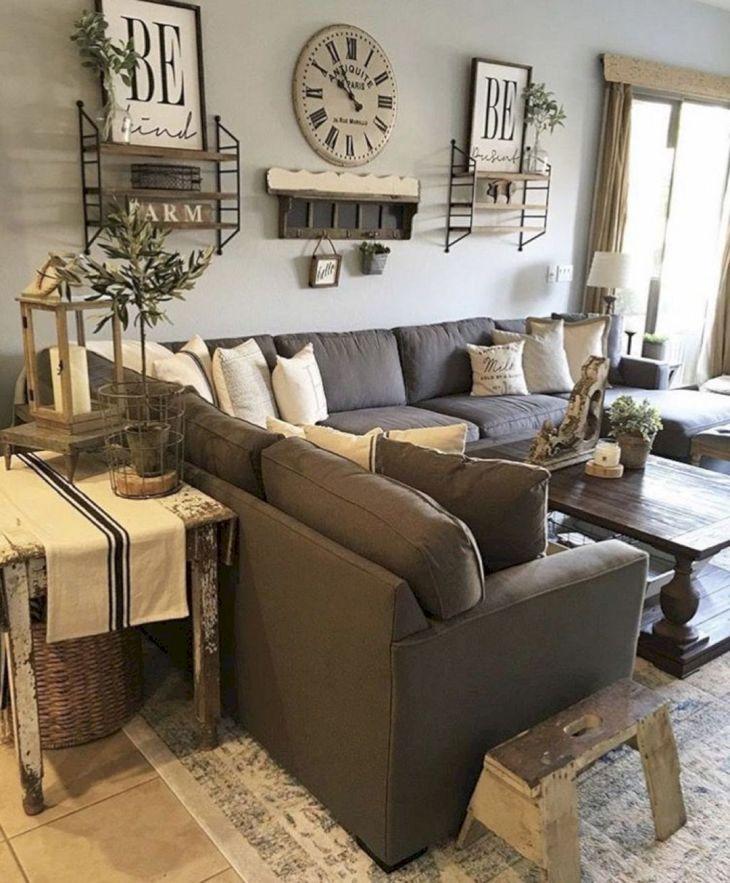Living Room Farmhouse Decoration Ideas 133