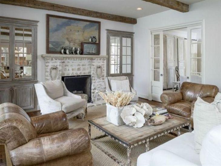 Living Room Farmhouse Decoration Ideas 16