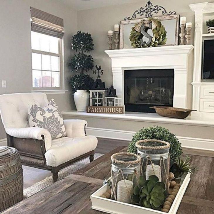 Living Room Farmhouse Decoration Ideas 17