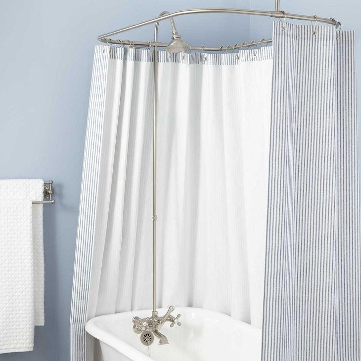 Bathroom Shower With Curtain 019