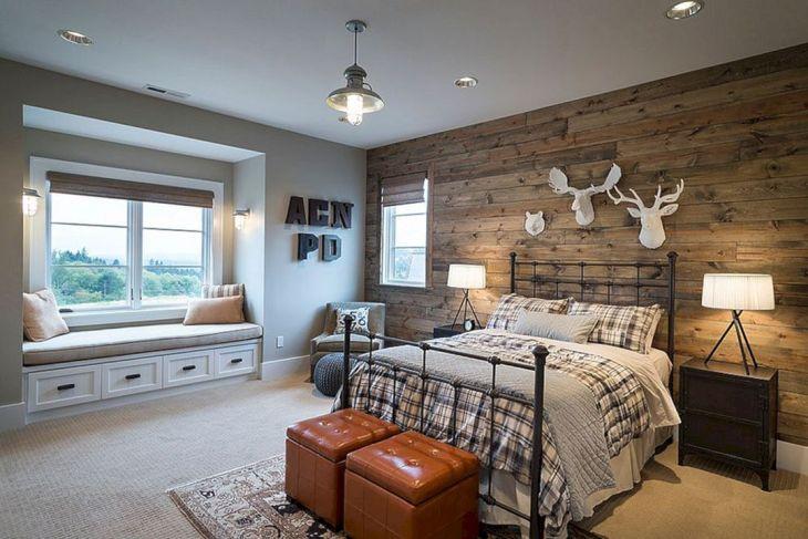 Rustic Bedroom Wall Ideas 100