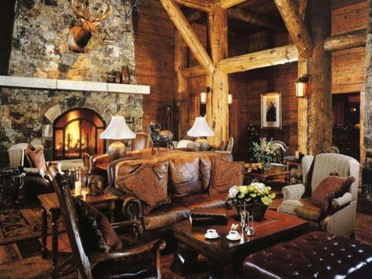 Rustic Cabin Interior Ideas 13