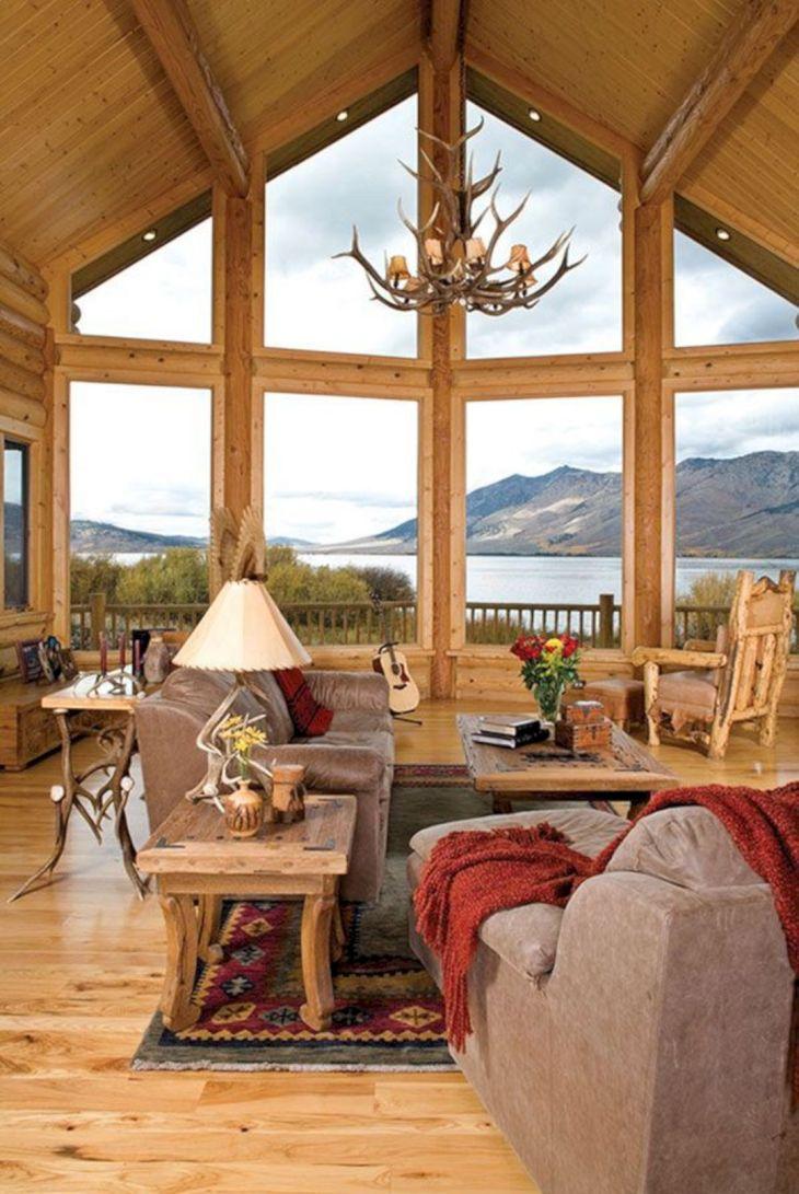 Rustic Cabin Interior Ideas 20