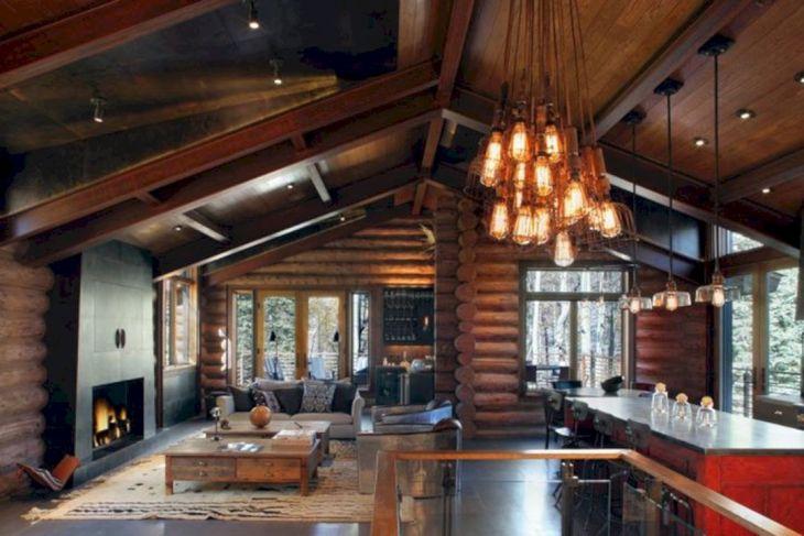 Rustic Cabin Interior Ideas 23