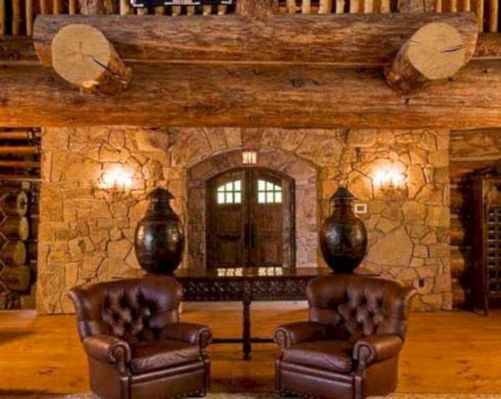 Rustic Cabin Interior Ideas 27