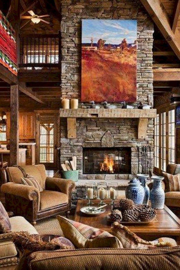Rustic Cabin Interior Ideas 33
