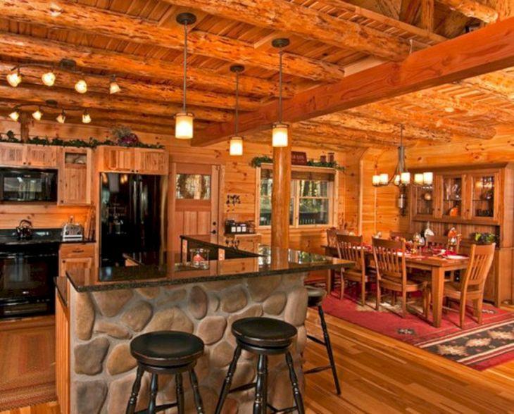 Rustic Cabin Interior Ideas 40