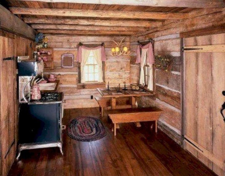 Rustic Cabin Interior Ideas 41