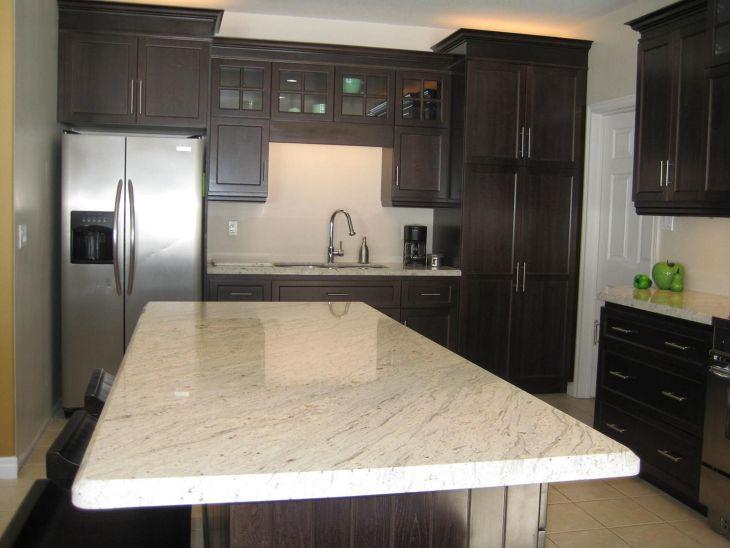 White Granite Kitchen 130