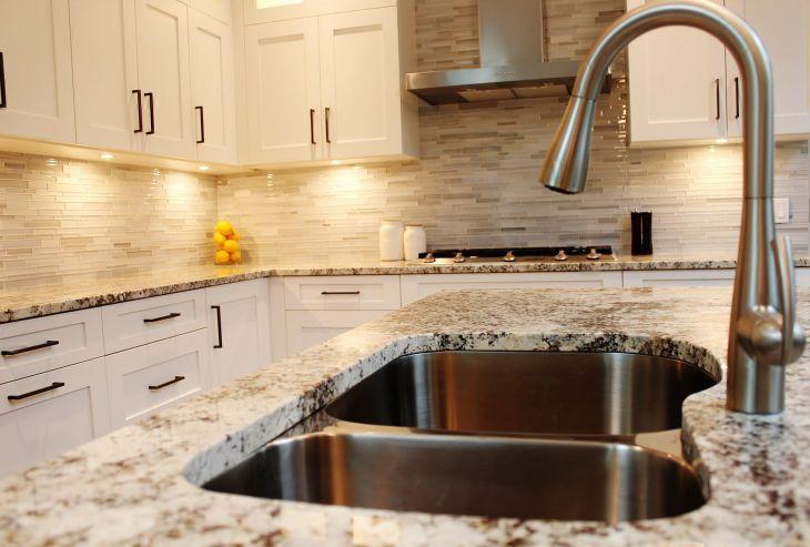 White Granite Kitchen 260