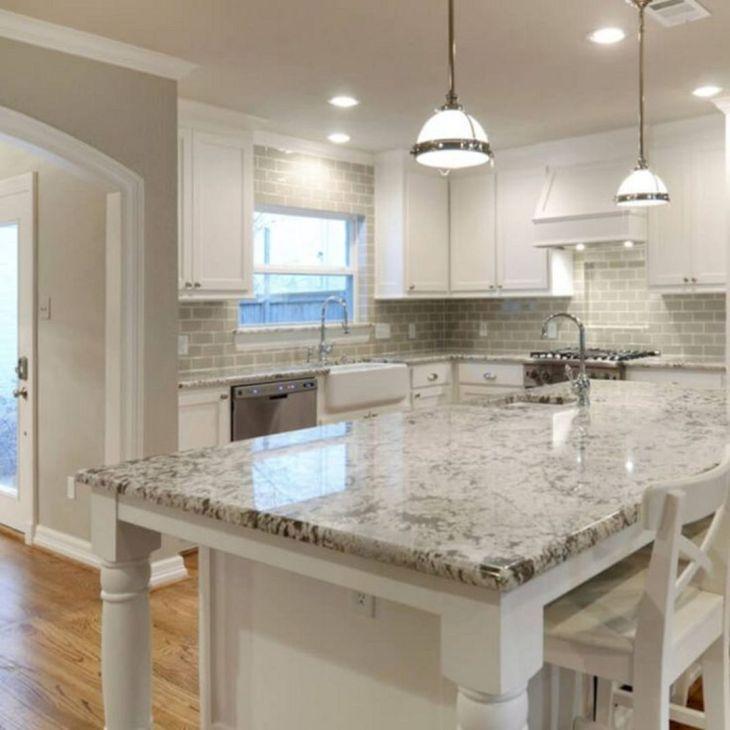 White Granite Kitchen 290