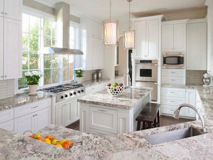 White Granite Kitchen 80