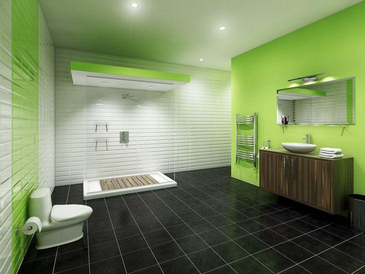 Bathroom Green Color