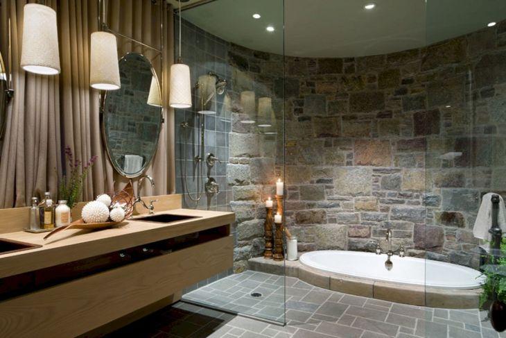 Bathroom Wood Stone